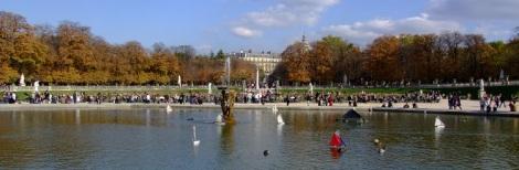 Luxembourg gardens panorama