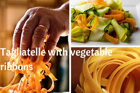 Veganuary- Tagliatelle with vegetable ribbons