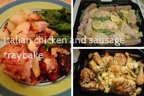 Italian chicken and sausage traybake header